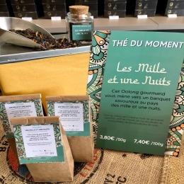 """NOUVEAU : le Oolong """"Les mille et une nuits"""" ! 😊  Le Oolong ou """"thé bleu"""" est un type de thé à fermentation incomplète qui lui confère de vives propriétés antioxydantes en plus de sa gourmandise naturelle. 🌱  Ce thé floral et fruité aux notes de raisins et de pétales de fleurs, vous fera voyager au pays des mille et une nuits... ! 🕌  #oolong #thébleu #oolongtea #tealover"""